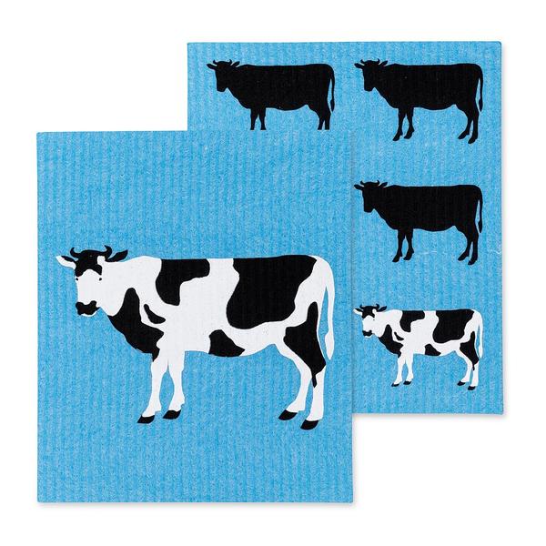 HHOLD ABBOTT COW SWEDISH DISH CLOTH SET