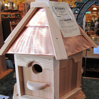 HOUSES WOODY'S PLAIN/COPPER TOP GAZEBO BIRD HOUSE