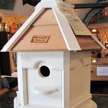 HOUSES WOODY'S PAINTED PLAIN ROOF GAZEBO BIRD HOUSE