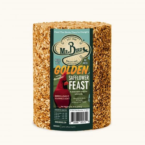 FEED MR BIRD GOLDEN SAFFLOWER FEAST 72 OZ.
