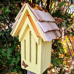 HOUSES HEARTWOOD MADEMOISELLE BUTTERFLY HOUSE YELLOW W/STAKE