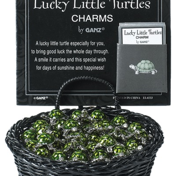 HHOLD GANZ LUCKY LITTLE TURTLES POCKET CHARMS