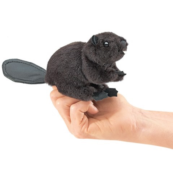 KIDS FOLKMANIS MINI BEAVER FINGER PUPPET