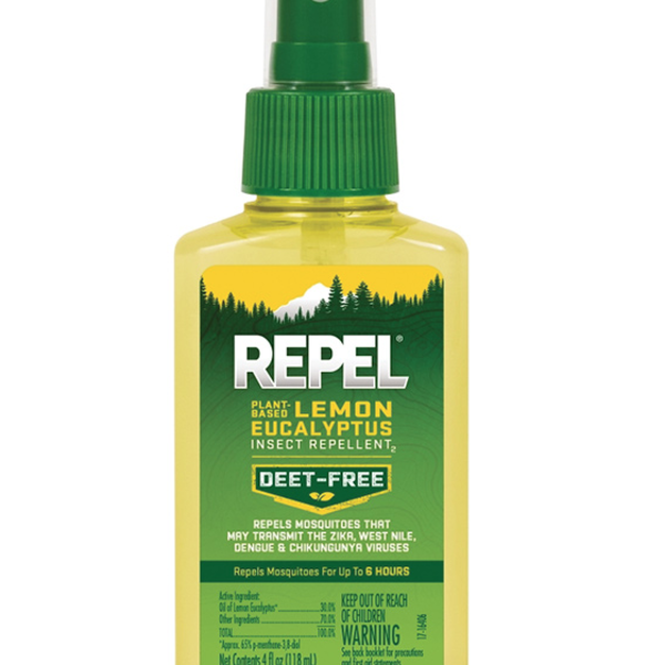 OUTDOORS REPEL PLANT-BASED LEMON EUCALYPTUS INSECT REPELLENT (DEET FREE)