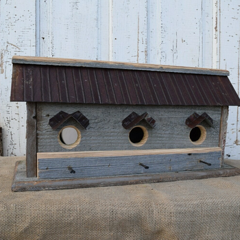HOUSES NATURE CREATIONS BARN WOOD LARGE BIRD HOUSE #30 NATURAL