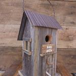 HOUSES NATURE CREATIONS BARN WOOD BIRD HOUSE #50 NATURAL