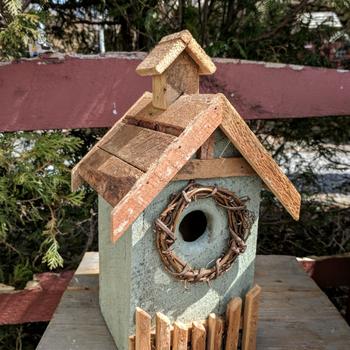 HOUSES NATURE CREATIONS BARN WOOD BIRD HOUSE #19 SAGE