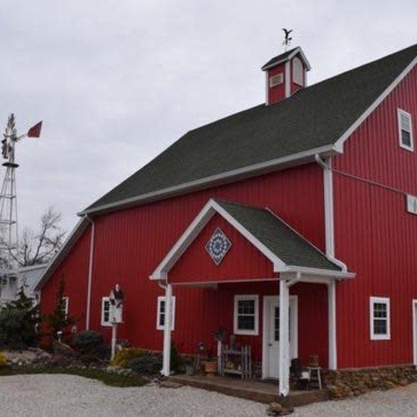 HOUSES NATURE CREATIONS BARN WOOD CHURCH HOUSE W/TIN ROOF #35 WHITE