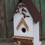 HOUSES NATURE CREATIONS BARN WOOD HANGING HOUSE  #66 WHITE