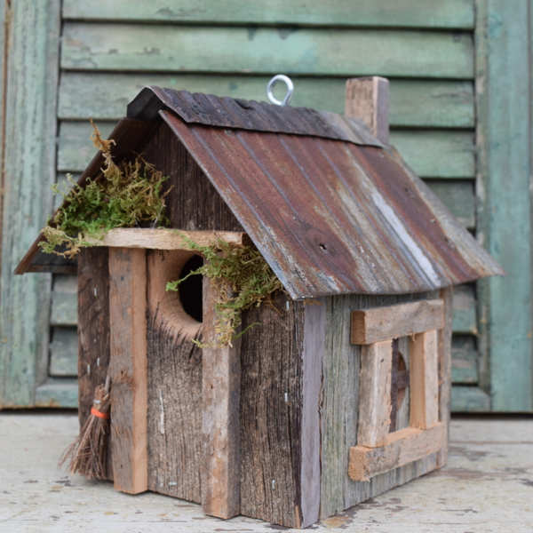 HOUSES NATURE CREATIONS BARN WOOD BIRD HOUSE #25 NATURAL