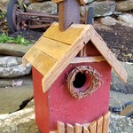 HOUSES NATURE CREATIONS BARN WOOD BIRD HOUSE #19 RED