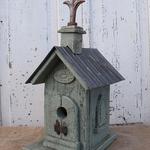 HOUSES NATURE CREATIONS BARN WOOD BIRD HOUSE CHURCH HOUSE #36 SAGE