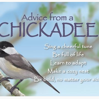 HHOLD ADVICE FROM A CHICKADEE MAGNET