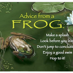 HHOLD ADVICE FROM A FROG MAGNET