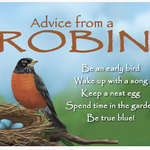 HHOLD ADVICE FROM A ROBIN MAGNET