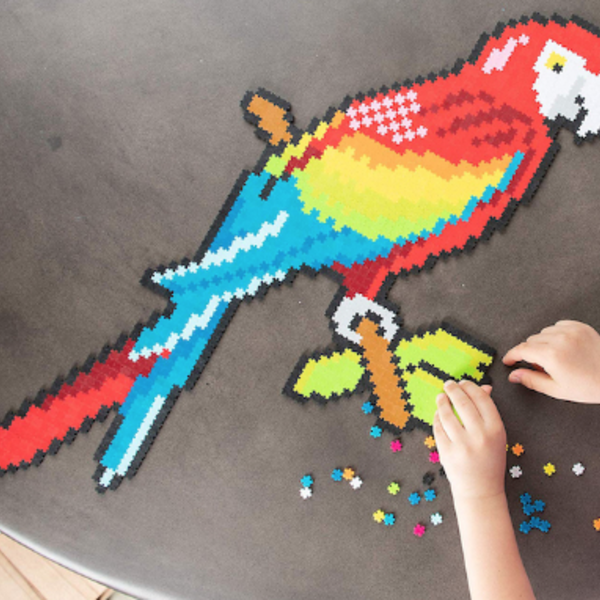 KIDS FAT BRAIN TOYS JIXELZ 1500 PC SET UP IN THE AIR