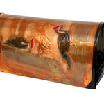 """HHOLD GREG HENTZI COPPER ETCHED MAILBOX """"PILIATED WOODPECKER"""""""
