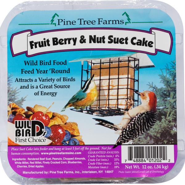 FEED PINE TREE FRUIT BERRY & NUT SUET