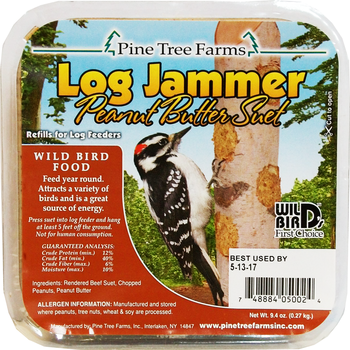 FEED PINE TREE LOG JAMMER PEANUT BUTTER SUET