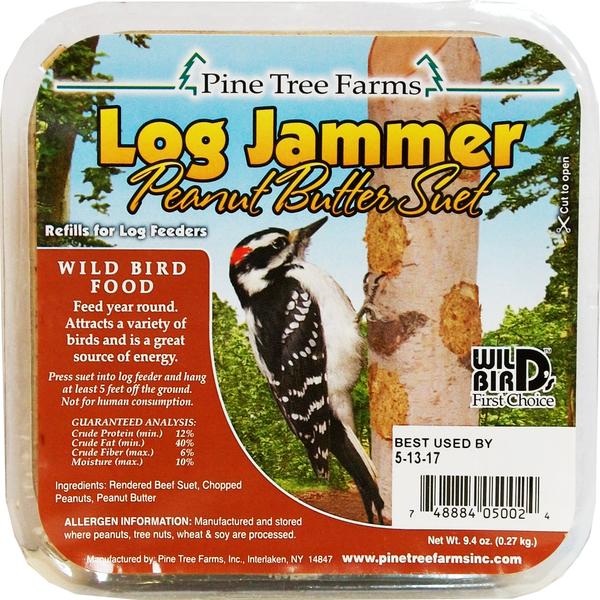 FEED PINE TREE LOG JAMMER PEANUT BUTTER SUET