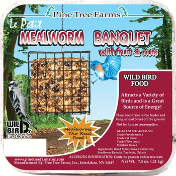 FEED PINE TREE FARMS LEPETIT MEALWORM BANQUET CAKE 7.5 OZ.