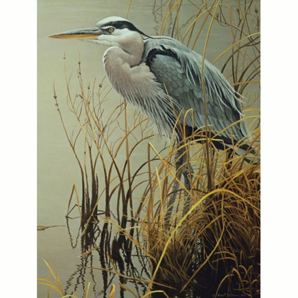 PUZZLES COBBLE HILL GREAT BLUE HERON PUZZLE 500PC