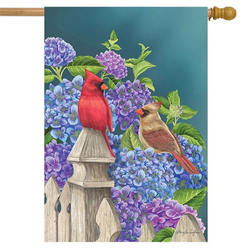 GARDEN BRIARWOOD LANE CARDINALS & HYDRANGEAS ESTATE FLAG