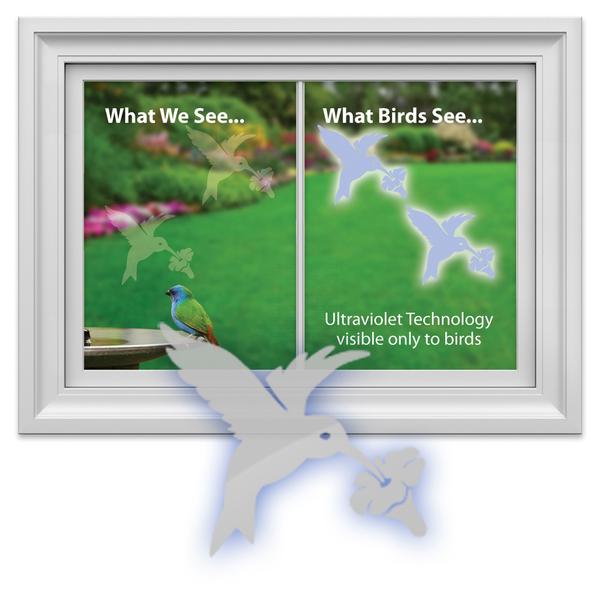 HHOLD WINDOW ALERT HUMMINGBIRD WINDOW DECAL 4 PK