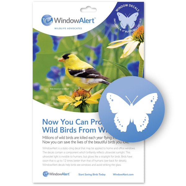 HHOLD WINDOW ALERT BUTTERFLY DECAL 4 PACK
