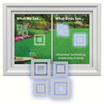 HHOLD WINDOW ALERT MODERN SQUARE DECAL 4 PACK