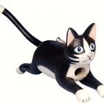 HOUSES SONGBIRD ESSENTIALS BOBBO LEAPING BLACK & WHITE CAT BIRDHOUSE