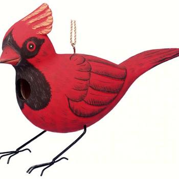 HOUSES SONGBIRD ESSENTIALS BOBBO CARDINAL BIRDHOUSE
