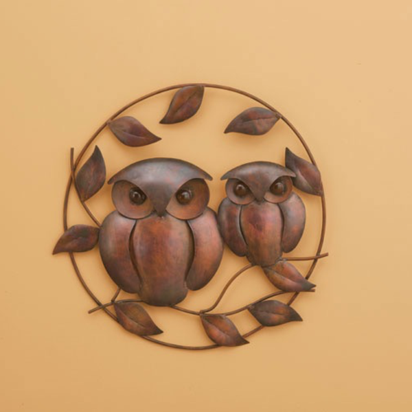 HHOLD ANCIENT GRAFFITI FLAMED OWL DUO WALL DECOR