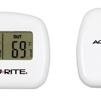 WEATHER ACCURITE WIRELESS THERMOMETER WITH REMOTE SENSOR