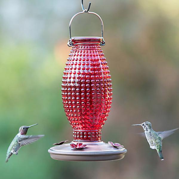 FEEDERS PERKY PET RED HOBNAIL HUMMINGBIRD FEEDER