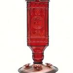 FEEDERS PERKY PET RED SQUARE ANTIQUE GLASS HUMMINGBIRD FEEDER 24OZ
