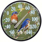 WEATHER ACCURITE JAMES HAUTMAN 12.5 IN/OUT BLUEBIRD THERMOMOMETER