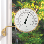 """WEATHER CONANT BRASS VERMONT DIAL THERMOMETER 4.25"""" CCBT6LFB"""