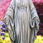 "GARDEN MASSARELLIS STONE 33"" BLESSED MOTHER STATUE 101033-21"