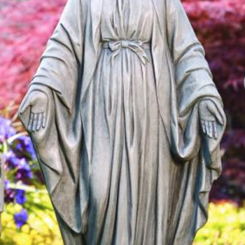 "GARDEN MASSARELLIS STONE 33"" BLESSED MOTHER STATUE 101033-21"
