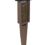 FEEDERS BIRDS CHOICE RECYCLED 2 CAKE PILEATED SUET FEEDER WITH TAIL PROP