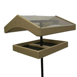 """FEEDERS BIRDS CHOICE RECYCLED POLE MOUNT WEATHER TOPPER 1"""" FLANGE INCLUDED"""