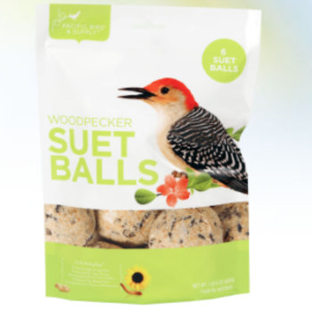 FEED PACIFIC BIRD WOODPECKER SUET BALLS 6PK