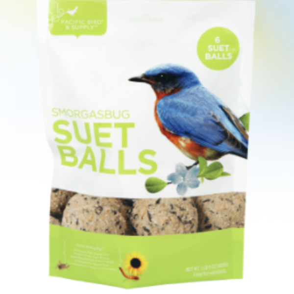 FEED PACIFIC BIRD SMORGASBUG SUET BALLS 6PK