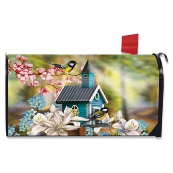HHOLD BRIARWOOD LANE PEACEFUL BIRD HOUSE  MAILBOX COVER