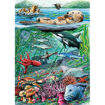 PUZZLES COBBLE HILL LIFE ON THE PACIFIC OCEAN TRAY PUZZLE 35PC