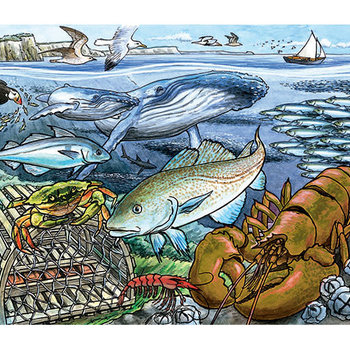 PUZZLES COBBLE HILL LIFE ON THE ATLANTIC OCEAN TRAY PUZZLE 35PC