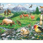 PUZZLES COBBLE HILL ROCKY MOUNTAIN WILDLIFE TRAY PUZZLE 35PC