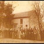 HOUSES NATURE CREATIONS BARN WOOD BIRD HSE W/TIN ROOF #47 ORANGE