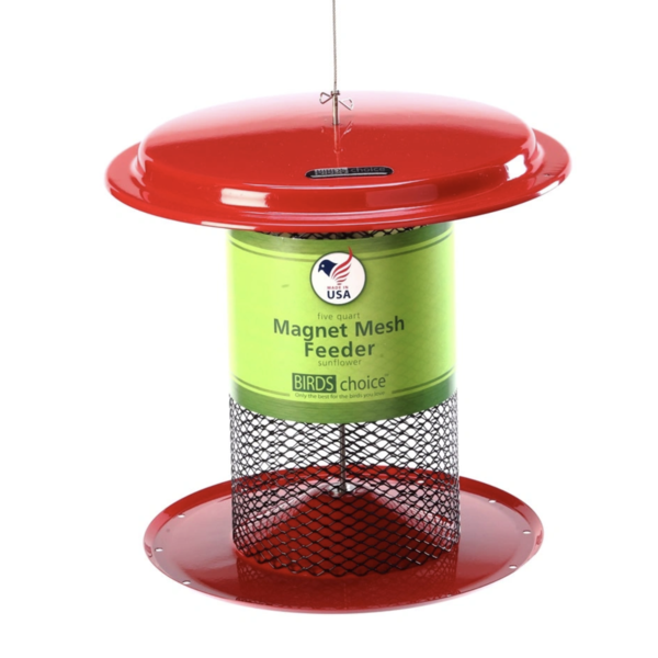 FEEDERS BIRDS CHOICE 5QT. MESH SUNFLOWER FEEDER RED